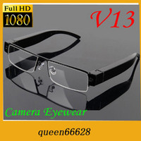 Cheap Wholesale - FULL HD 1080P hidden camera glasses camera NEW video recorder HOT mini dvr sunglass V13 eyewear dv support TF card camcorder