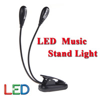 Wholesale Hot Sale Black Clip on Dual Arms LED Flexible Book Music Stand Light Lamp Guitar Parts Accessories Top Quality