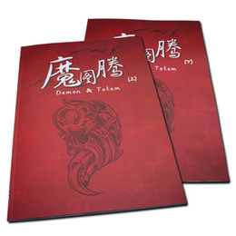 Wholesale 2pcs Set Tattoo Books Demon Totem Flash Tattoo Manuscript A3 Size