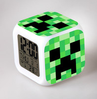 Wholesale 201407H My World Minecraft coolie afraid of small alarm clock Desk Table Clocks