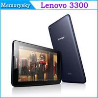 Bon Marché Comprimé appel-D'origine 7,0 pouces PC Lenovo A3300 Tablet avec Phone Call Android 4.2 MTK8382 Quad Core RAM 1 Go ROM 8GB 1.3GHz Tablet 002430