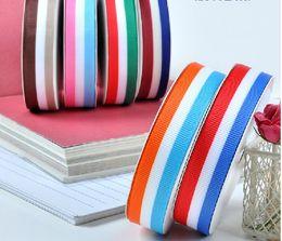 Wholesale color ribbon Children Garment accessories Sewing Tape Organza Satin Ribbons grosgrain ribbon printed Ribbon mm