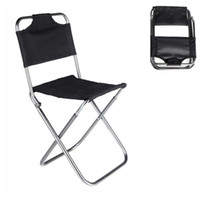 Wholesale New Portable Folding Chair Aluminum Camping Fishing Chair with Backrest Carry Bag Black Chairs CAT6703