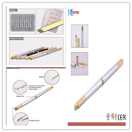 Wholesale 5 Permanent Makeup Manual Tattoo Pen For Permanent Makeup Eyebrow Tattoo With Pins Needles