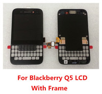 Wholesale For BlackBerry Q5 High Quality q5 LCD Screen and Digitizer Assembly With Frame