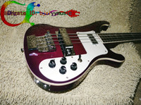 Wholesale Purple Bass Beauty Strings Electric Bass Guitars High Quality String Electric Bass Guitar stereo varitone