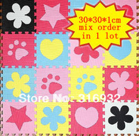 Wholesale OP WM018 High quality Eva Puzzle Floor Mat for baby mix order packed in bulk