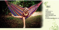 Cotten Outdoor Furniture zijia you Camping outdoor thickening canvas hammock casual indoor swing outside lashing 30pcs lot