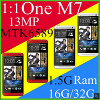 Wholesale Perfect HDC One M7 MTK6582 Quad Core Phone for TheHDC M7 phone HD quot Screen BlinkFeed G RAM G ROM G Android phone