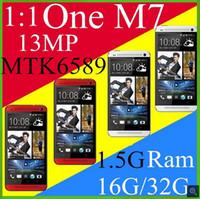 """Perfecto HDC Uno M7 MTK6582 Teléfono de Cuádruple Núcleo para TheHDC M7 teléfono HD de 4.7""""1280*720 Pantalla BlinkFeed memoria RAM de 1G 16G ROM 3G Android 4.4.2 teléfono"""