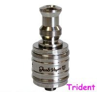 Wholesale Top selling Trident rebuildable vaporizer dual coil Trident atomizer clone stainless gold V12 Trident clearomizer VS Omega kraken kayfun