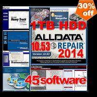 Wholesale 45in1 alldata and mitchell software alldata v10 mitchell on demand ESI ATSG ETKA vivid ELSA med heavy truck Big promotion