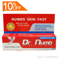Wholesale Best Price Sales g DR Numb Anaesthetic Cream For Tattoo Gun Needle Ink Cups Grips Kits
