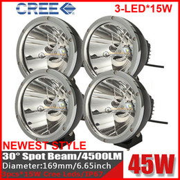 Wholesale 4PCS quot W CREE LED Driving Work Light Off Road SUV ATV WD x4 POWER Spot Beam lm V JEEP Truck Wago Fog Headlamp Replace HID Round
