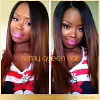 Natural Color Brazilian hair Loose Wave 130 density #1b T #33 two tone color middle part straight human hair wigs full lace wig lace front wig glueless ombre 10-24 inch in stock