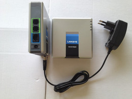 Wholesale DIHAO Unlocked VoIP Adapter Linksys PAP2T Internet Phone Adapter with two phone ports