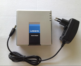 Wholesale DIHAO Best price New style Linksys PAP2T NA VOIP SIP ATA Phone Adapter pap2T Tracking No D0252D