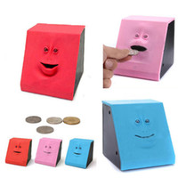 Wholesale For Children Christmas Gift Hot Cute Facebank Face Saving Bank Sensor Coin Money Eating Box Cute Piggy Gift DH04