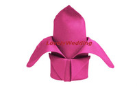 dinner napkin - Top quality cheapest Polyester FUCHSIA table dinner Napkin