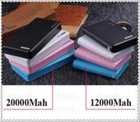 Wholesale Nice Wallet Portable Power Bank Dual USB ports LED Flash light mah mah purse External emergency charger Powerbank Backup Battery