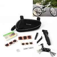 bicycle kit - Multifunction Sahoo Cycling Bicycle Bike Repair Tools Kit Set with Pump Box Bag Black H9617