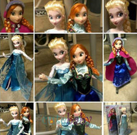Wholesale Frozen Anna Elsa olaf Toys Princess dolls Inch Nice Gift For Kids Girls Baby Doll Joint Moveable Frozen Barbie Dolls With Box