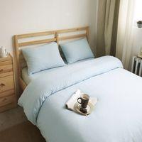 100% Cotton Woven Home Simple plain ikea quilt cover all cotton Bedding four sets