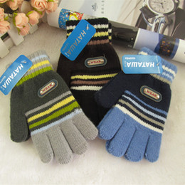 Wholesale Winter winter lovely cashmere gloves for children spiked big thick fingers warm gloves Students