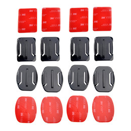 Wholesale New Flat Curved Surface Mounts M Adhesive for GoPro HD Hero Camera ST Gopro Accessories W0057A