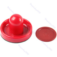 Wholesale pc mm Felt Pusher Air Hockey Table Mallet Goalies And pc mm Puck Red