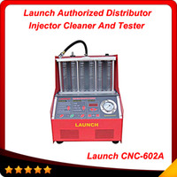 Wholesale 100 Origninal Launch CNC A CNC602A injector cleaner and tester With English Panel best price DHL