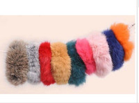 Wholesale 20PX Real Genuine Rabbit Fur Hair Band Hair Bobble Hair Accessories Fluffy Mixed Colors Boutique
