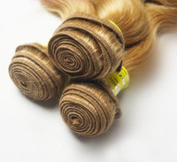 Brazilian Hair Body Wave $42.5-$231 bleach Blonde color 613 Body Wave Brazilian Virgin Human Hair weave wavy 3pcs mixed lengths