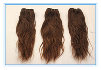 Wholesale High quality brazilian natural wave hair weft weave medium brown remy human hair extensions