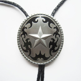 Jeansfriend New Vintage Original Western Oval Star Wedding Bolo Tie Leather Necklace also Stock in US