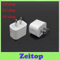 Wholesale 5V A Wall Charger EU US AU AC Travel USB Adapter for iPhone Samsung HTC Mobile Cell Phones