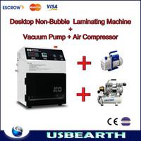 Yes laminating machine vacuum laminating no need remove bubble Free Shipping! Automatic Vacuum Non-Bubble OCA Laminating Machine + Air compressor + Vaccum pump