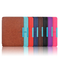 Wholesale Retail PU leather cover case for Amazon kindle paperwhite Wifi G Screen Protector DHL UPS Fedex