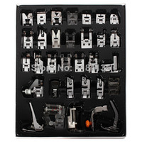 Quilt Accessories blinds - New Domestic Sewing Machine Braiding Blind Stitch Darnign Presser Foot Feet Kit Set For Brother Singer Janom