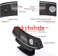 Wholesale Steering Wheel Car Wireless Bluetooth Car Kit Hands free Kit MP3 Player USB FM Transmitter Radio Modulator with Car Charger