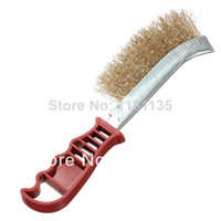 Toilet Foam Eco Friendly New Hand Steel Wire Brush Heavy Duty Plastic Handle DIY Tool Rust Paint Metal Remover Free Shipping