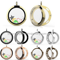 Wholesale magnetic floating lockets mm Stainless steel plain large magnetic round circle