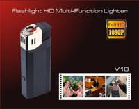 Wholesale HD P Hidden Camera Lighter with Highlighted Flashlight Mini Lighter DVR V18 Spy Lighter Cameras Support TF card Newest