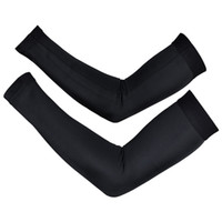 Wholesale High quality BLACK new pro team pair New Bike Arm Warm Kit Cycling Arm Warmers Bicycle Riding Arm Sleeve Cover