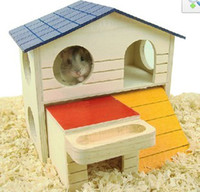 Wholesale Hamster toys hamster supplies swing Lookout seesaw huts tonneau logs villa hamster house pet products CW42