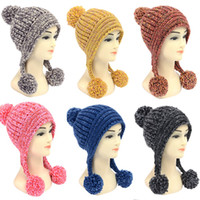 Wholesale 2014 new winter knitted fashion hat colored spun yarn acrylic hats