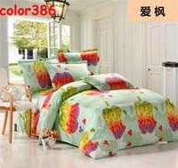 VELOUR Knitted Home Hot sale Beauty maple leaf bedding set wedding bedclothes New designer brand set duvet cover set Pillow Case 4pcs Home decor home decoration