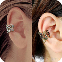 Wholesale New Fashion Punk Hollow out Engraving Ladie Ear Cuff Clip Earrings Colors Hot Sale