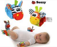 socks - 20pcs New Lamaze Style Sozzy rattle Wrist donkey Zebra Wrist Rattle and Socks toys set wrist socks