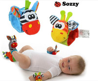 20pcs lot 2014 New Lamaze Style Sozzy rattle Wrist donkey Ze...